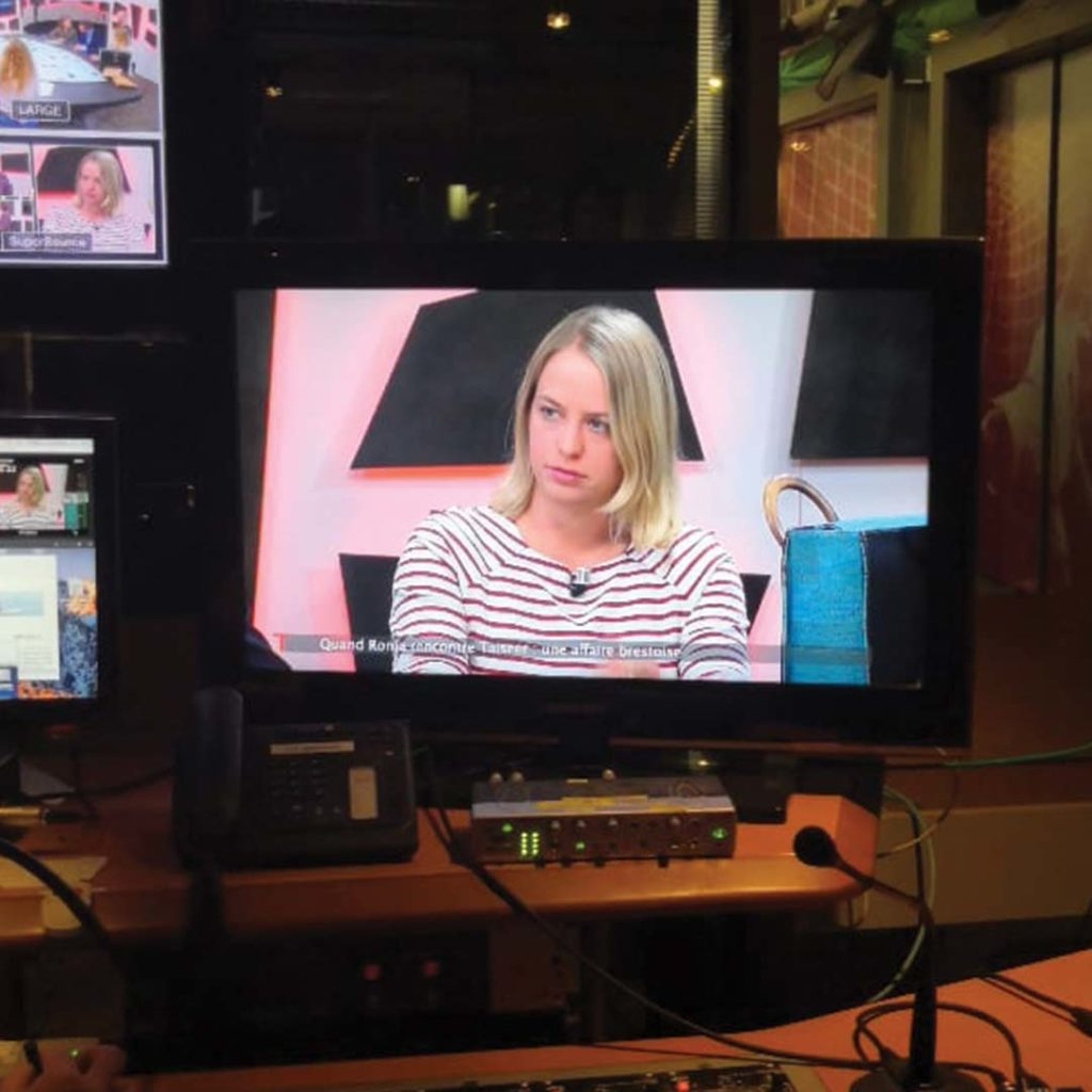 Ronja Nielsen on Television in control room
