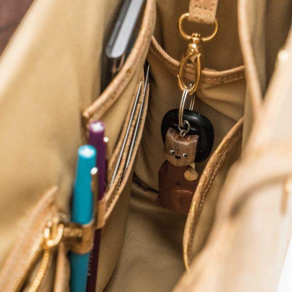 Innenansicht in der Bossy Business-Tasche mit Taschen zum Ordnen von Visitenkarten, Schlüsseln und Stiften