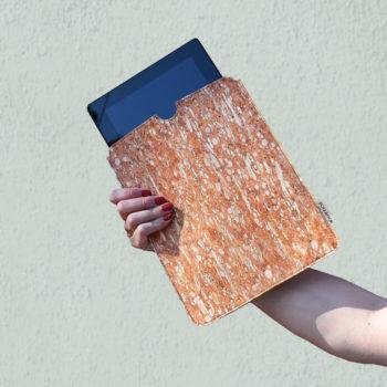 BAG-AFFAIR--SQR-HT-light-TEAL-Tablet-Sleeve--ipad-sleeve--tablet-cover--vegan-accessories--fennel-cork--accessoires-vegetal---mode-ethique