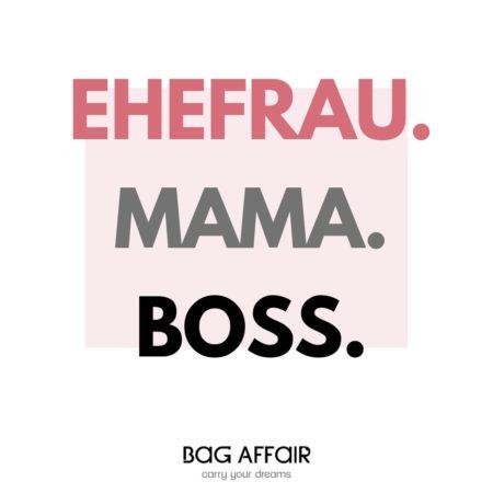 Visuelles Zitat Ehefrau – Mama - Boss