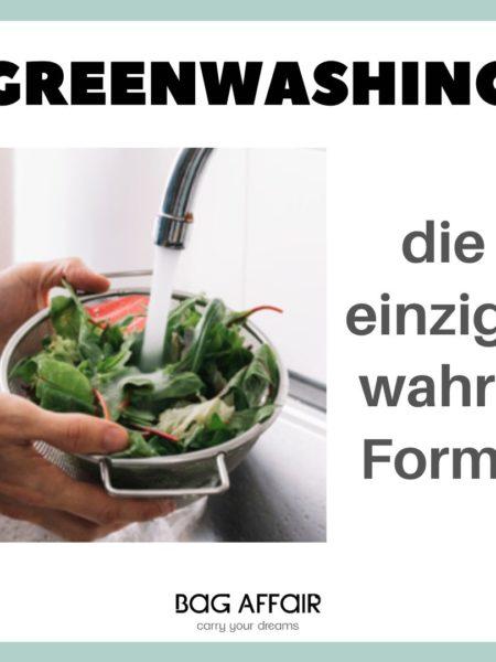 Bild einer Schüssel Salat unter Wasser, Titel: Greenwashing, die einzige wahre Form