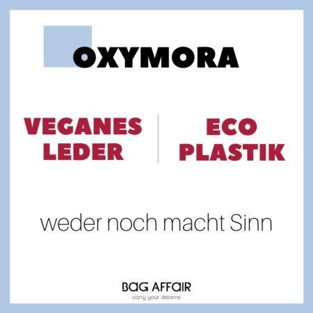 Definition Oxymora veganes Leder und Eco-Plastik in einem Visuell